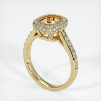 14K Yellow Gold Pave Diamond Ring Setting - JS730Y14