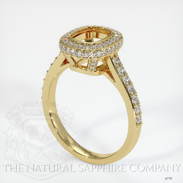 Bezel Set Pave Ring Setting JS730 Image