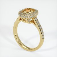 18K Yellow Gold Pave Diamond Ring Setting - JS730Y18