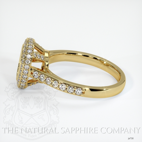 Bezel Set Pave Ring Setting JS730 Image 3