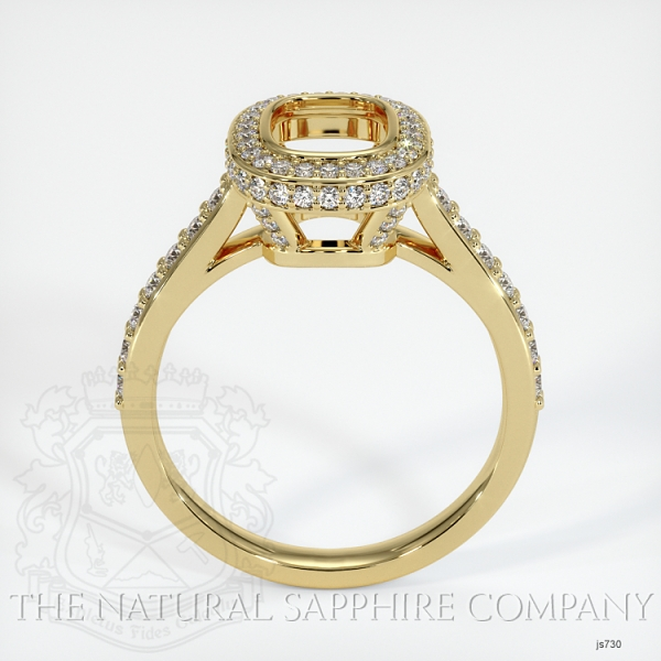 Bezel Set Pave Ring Setting JS730 Image 4