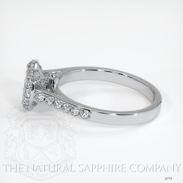 Bezel Set Pave Diamond Halo Ring Setting JS733 Image 3