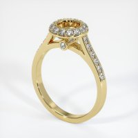 18K Yellow Gold Pave Diamond Ring Setting - JS733Y18