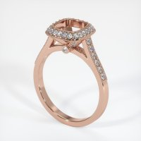 14K Rose Gold Pave Diamond Ring Setting - JS734R14