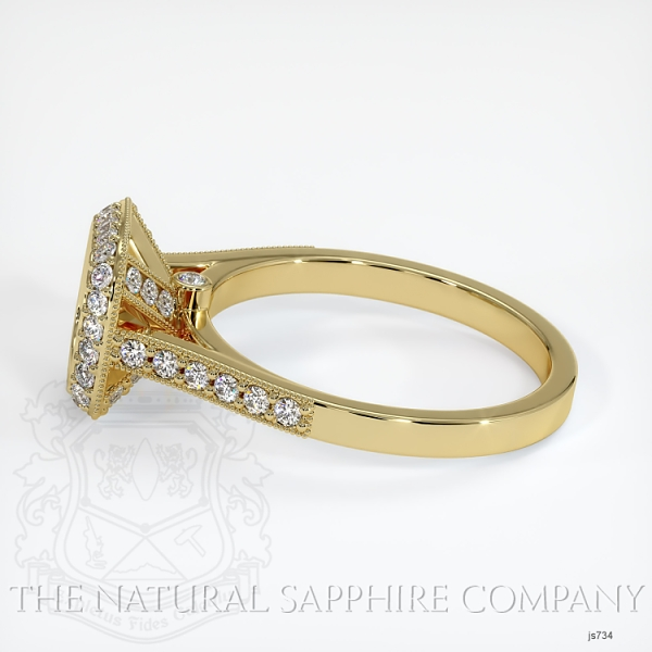 Bezel Set Pave Diamond Halo Ring Setting JS734 Image 3