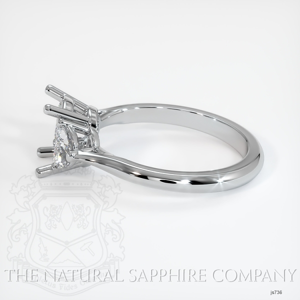 3 Stone Ring Setting - Half Moon Diamonds JS736 Image 3
