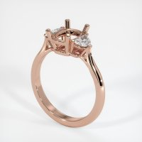 14K Rose Gold Ring Setting - JS736R14