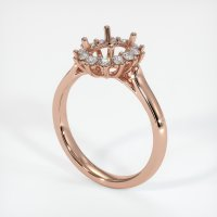 14K Rose Gold Ring Setting - JS74R14