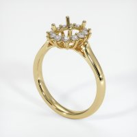 14K Yellow Gold Ring Setting - JS74Y14