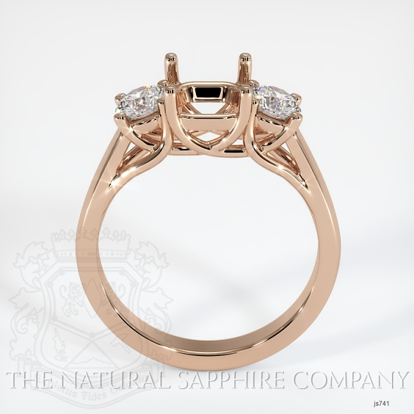 Trellis Three-Stone Ring Setting - Round Diamonds JS741 Image 4
