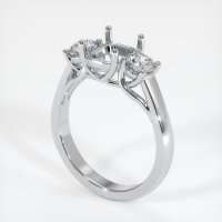 14K White Gold Ring Setting - JS741W14