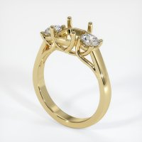 14K Yellow Gold Ring Setting - JS741Y14