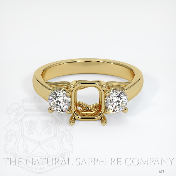 Trellis Three-Stone Ring Setting - Round Diamonds JS741 Image 2