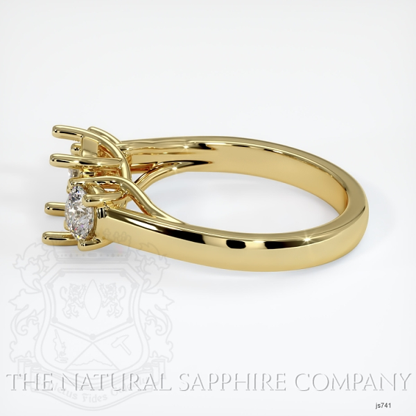 Trellis Three-Stone Ring Setting - Round Diamonds JS741 Image 3