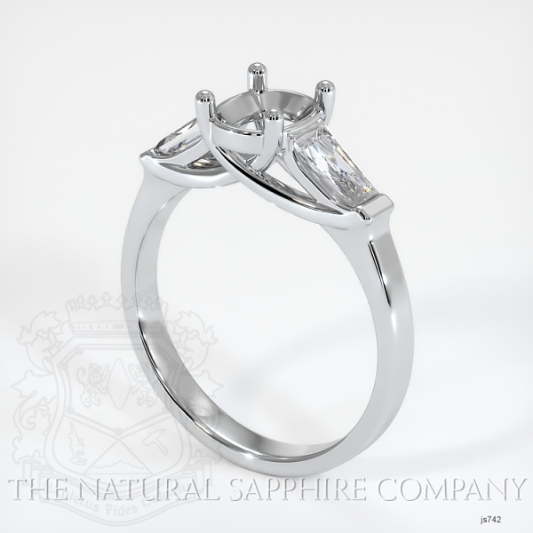 Trellis Three-Stone Ring - Tapered Baguette Diamonds JS742 Image