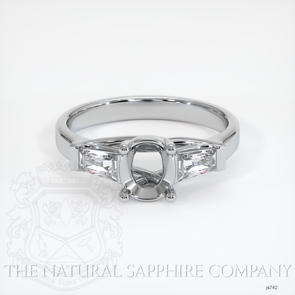 Trellis Three-Stone Ring - Tapered Baguette Diamonds JS742 Image 2