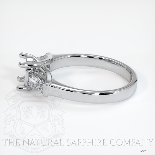 Trellis Three-Stone Ring - Tapered Baguette Diamonds JS742 Image 3