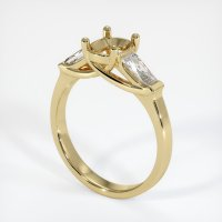 14K Yellow Gold Ring Setting - JS742Y14