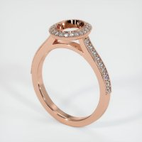14K Rose Gold Pave Diamond Ring Setting - JS762R14