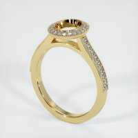 14K Yellow Gold Pave Diamond Ring Setting - JS762Y14