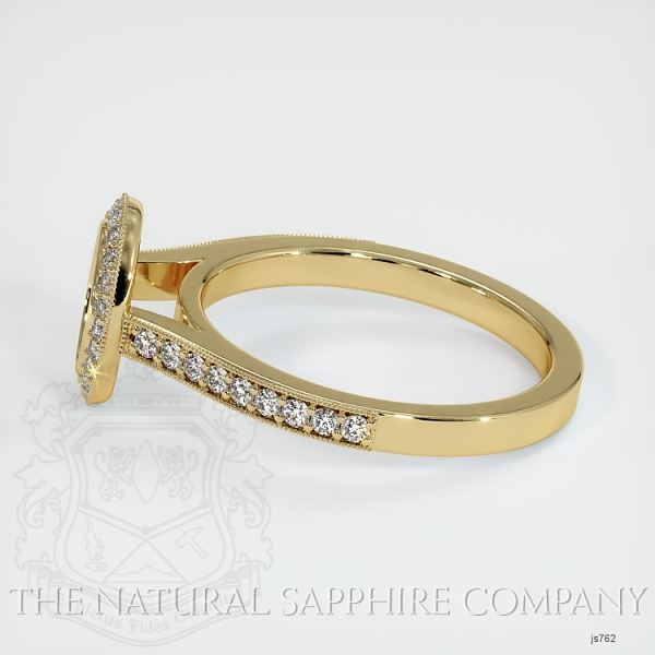 Bezel Set Pave Diamond Halo Ring Setting JS762 Image 3