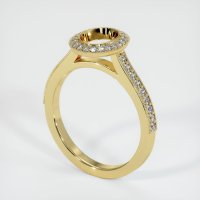 18K Yellow Gold Pave Diamond Ring Setting - JS762Y18