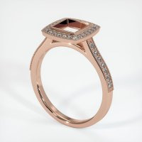 14K Rose Gold Pave Diamond Ring Setting - JS763R14