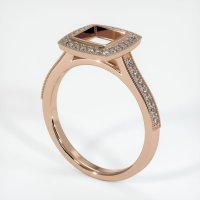 18K Rose Gold Pave Diamond Ring Setting - JS763R18