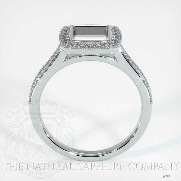 Bezel Set Pave Ring Setting JS763 Image 4