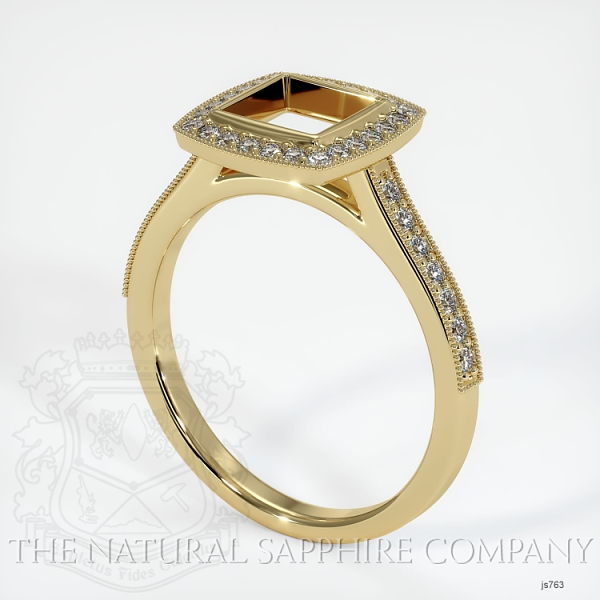 Bezel Set Pave Ring Setting JS763 Image