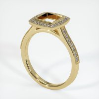 14K Yellow Gold Pave Diamond Ring Setting - JS763Y14