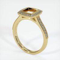 18K Yellow Gold Pave Diamond Ring Setting - JS763Y18