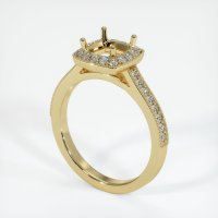 14K Yellow Gold Pave Diamond Ring Setting - JS764Y14