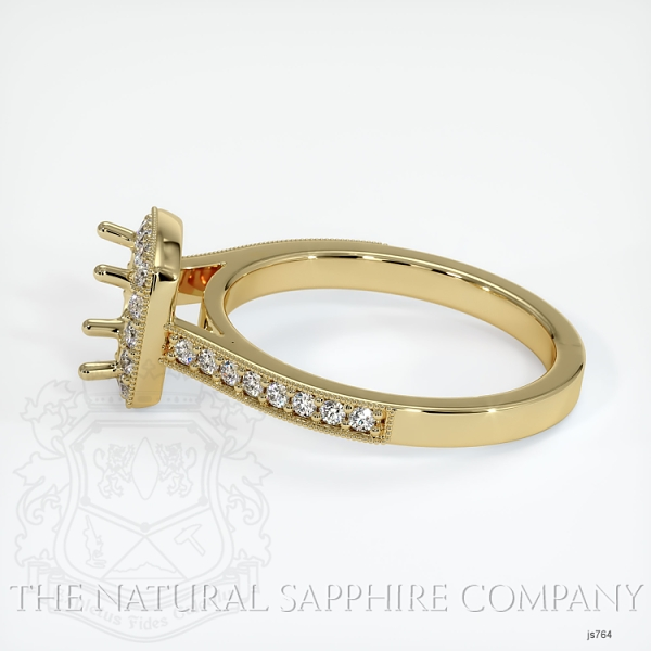 4 Prong Pave Ring Setting JS764 Image 3