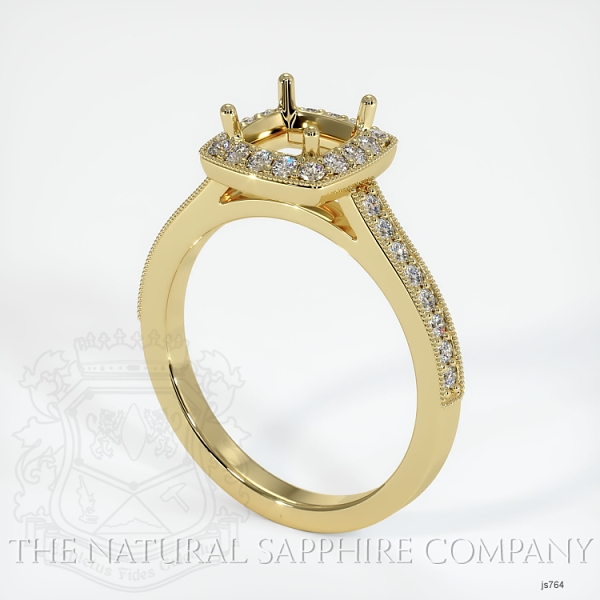 4 Prong Pave Ring Setting JS764 Image