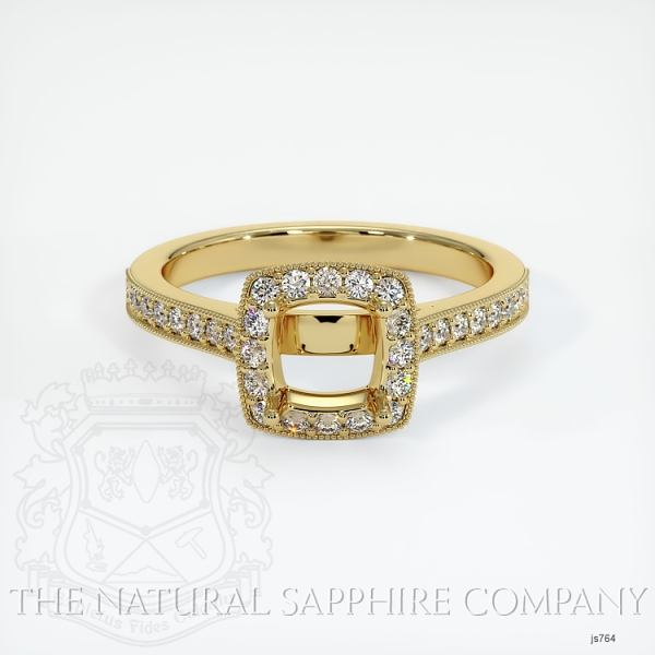 4 Prong Pave Ring Setting JS764 Image 2