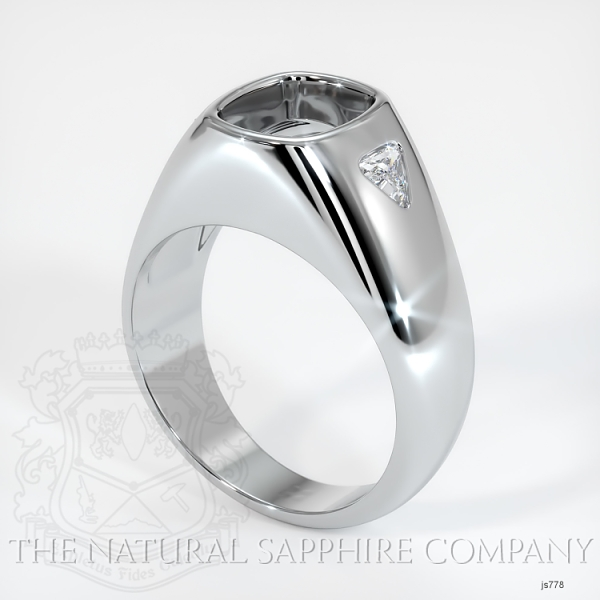 Burnished Ring Setting - Trillion Diamond Accents JS778 Image