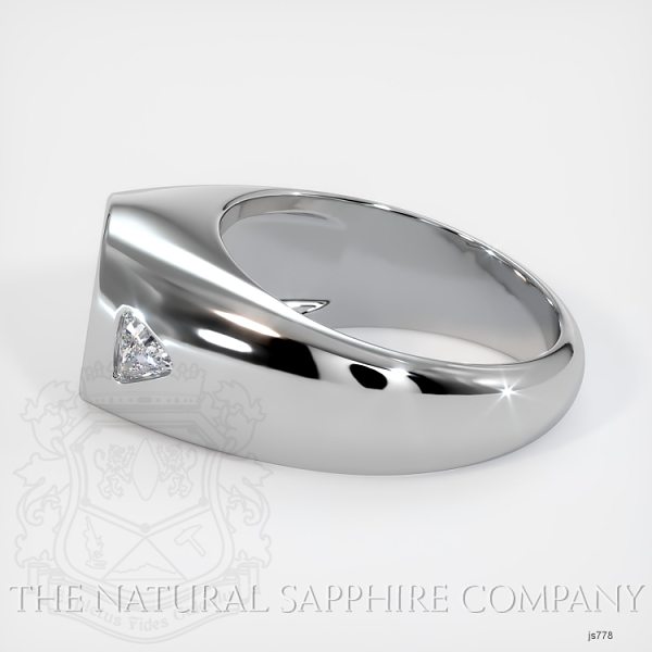 Burnished Ring Setting - Trillion Diamond Accents JS778 Image 3