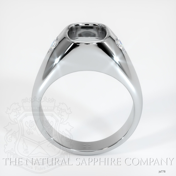 Burnished Ring Setting - Trillion Diamond Accents JS778 Image 4