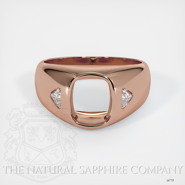 Burnished Ring Setting - Trillion Diamond Accents JS778 Image 2