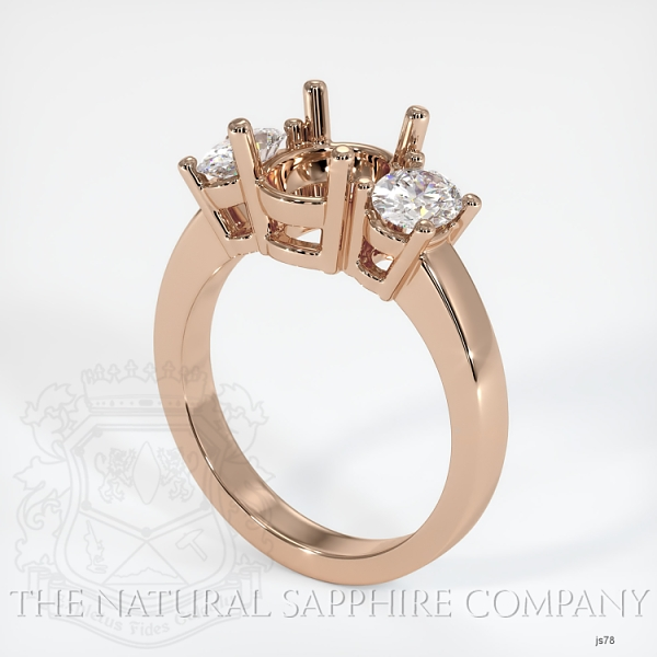 3 Stone Ring Setting - Oval Diamonds JS78 Image