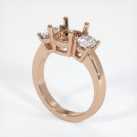 18K Rose Gold Ring Setting - JS78R18