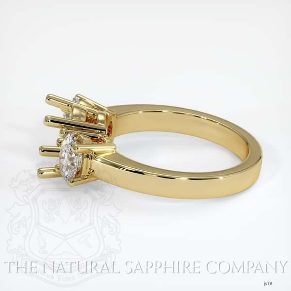 3 Stone Ring Setting - Oval Diamonds JS78 Image 3