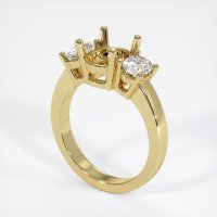 18K Yellow Gold Ring Setting - JS78Y18