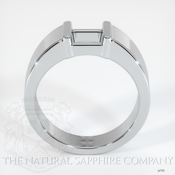 Half Bezel Solitaire Ring Setting JS785 Image 4