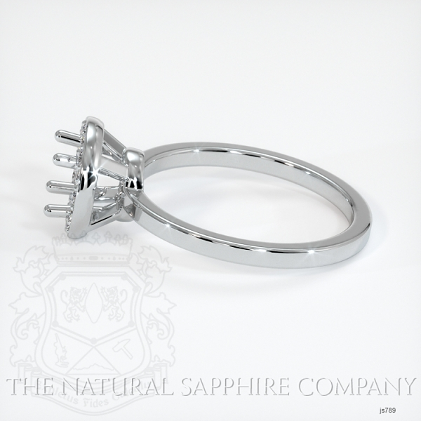 Pave Diamond Halo Ring Setting - Plain Band JS789 Image 3