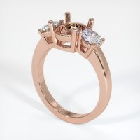14K Rose Gold Ring Setting - JS790R14
