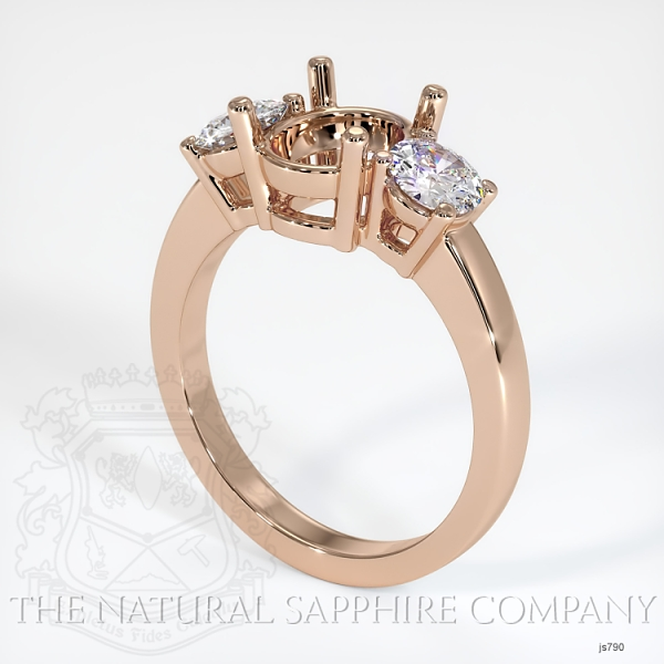 3 Stone Ring Setting - Round Diamonds JS790 Image