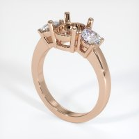 18K Rose Gold Ring Setting - JS790R18