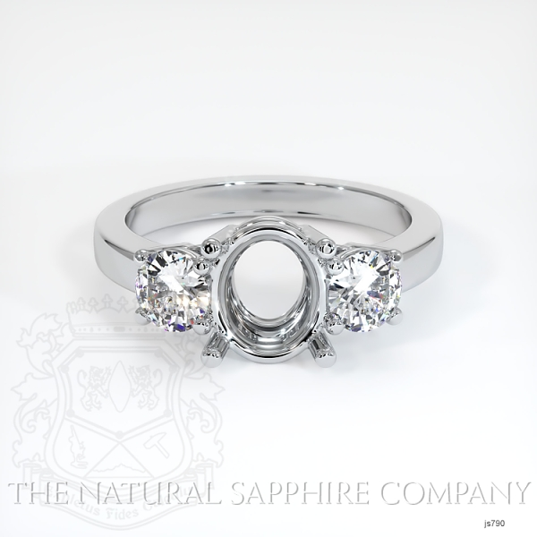 3 Stone Ring Setting - Round Diamonds JS790 Image 2
